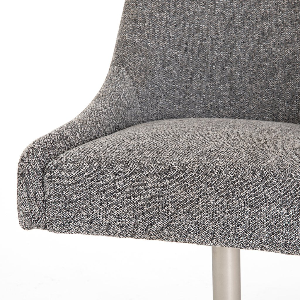 Tatum Bristol Charcoal Desk Chair Accent Detail