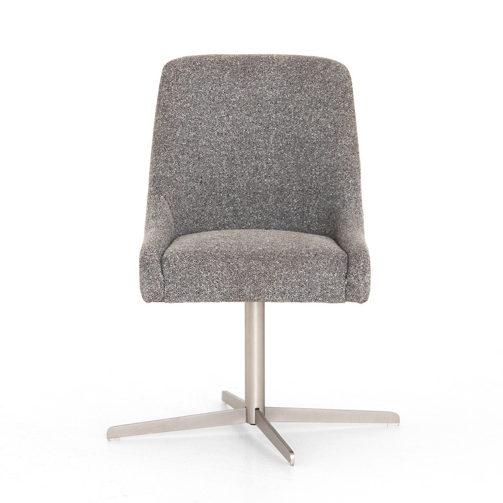 Tatum Bristol Charcoal Desk Chair Front View