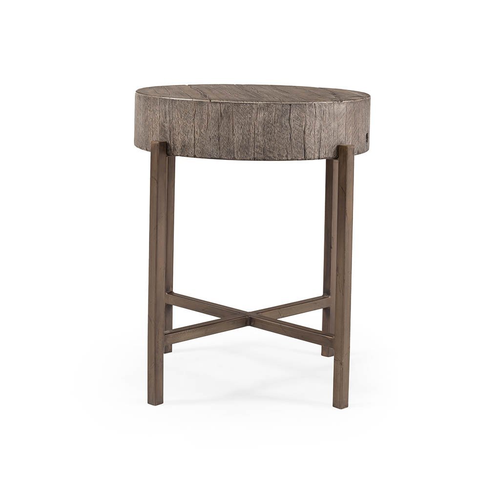 Tinsley End Table - Distressed Grey