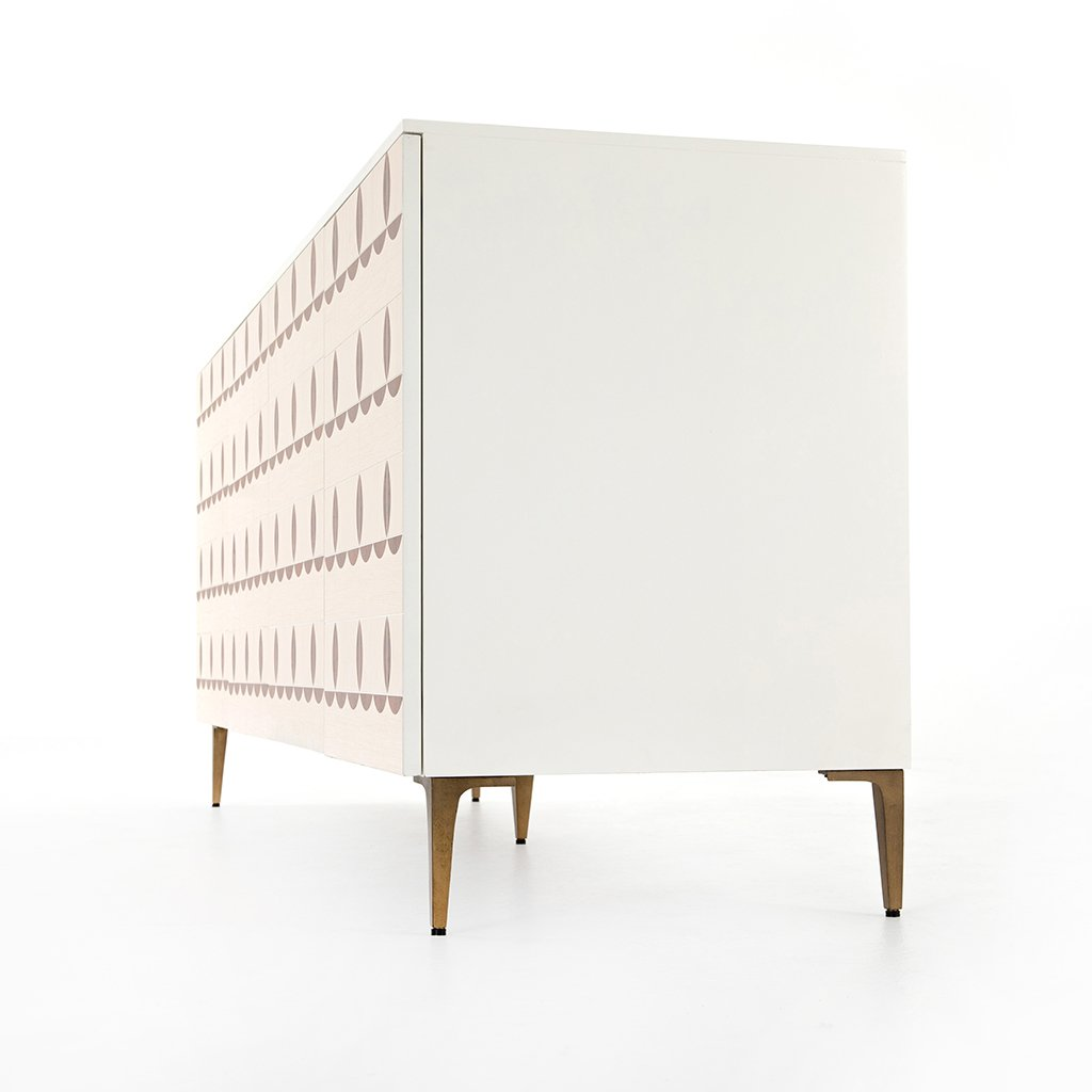 Trefoil Sideboard - Ivory JTRB-011 End View