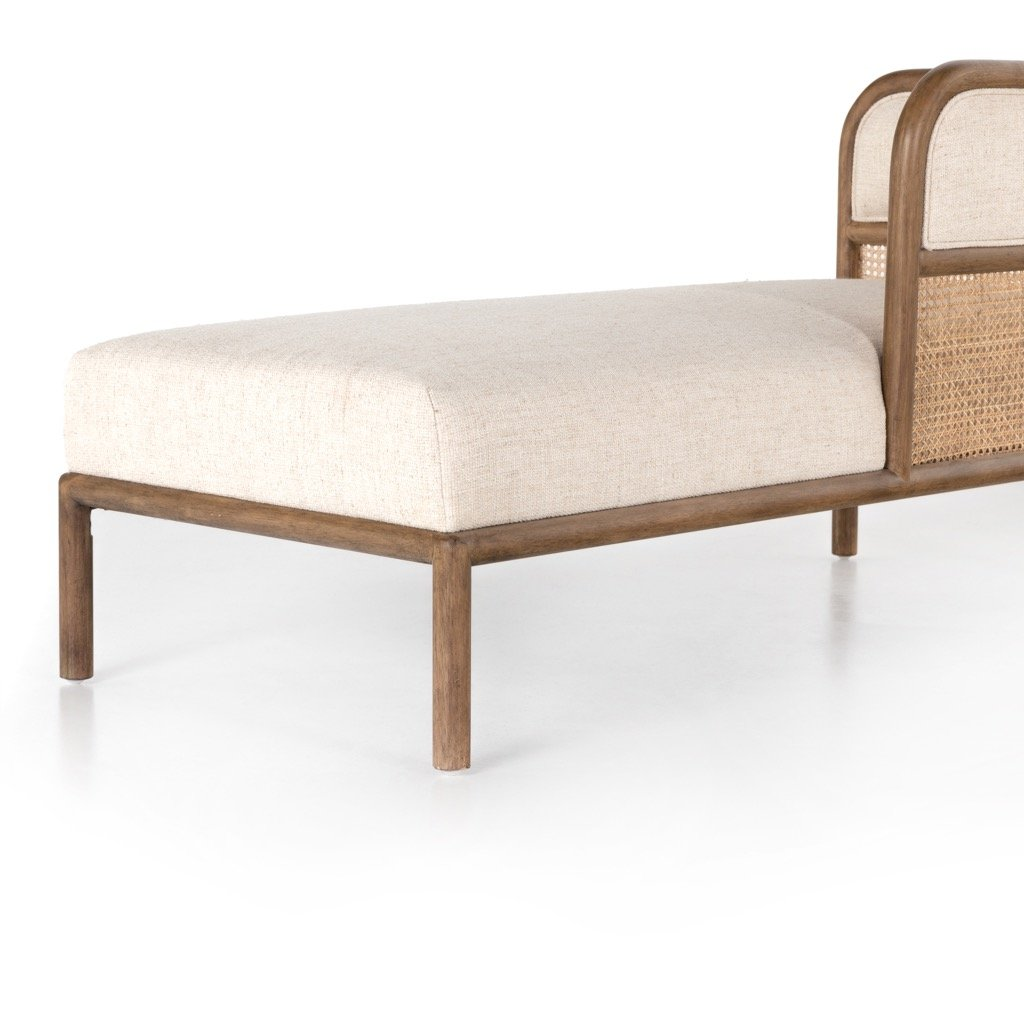 Tremaine Chaise Cream-Colored Seating Detail
