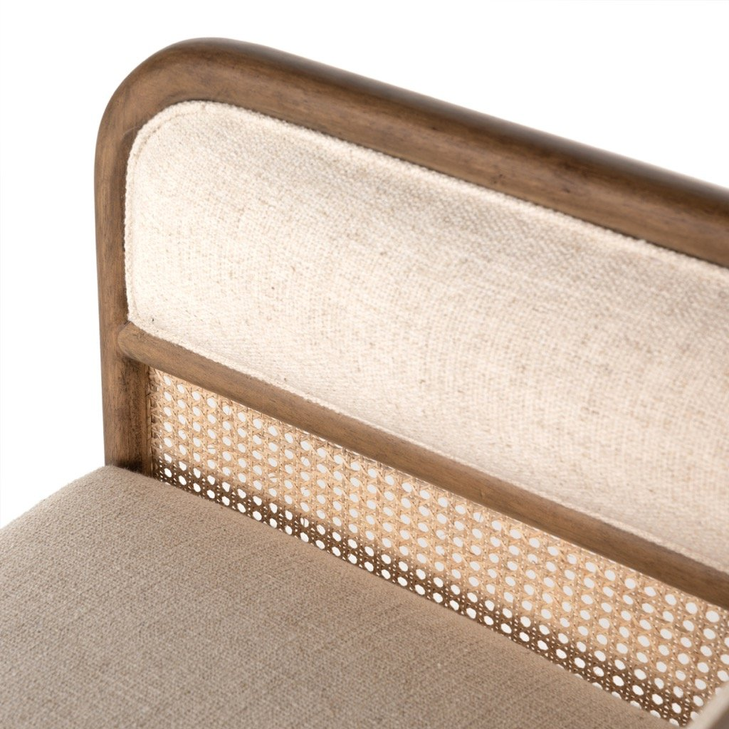 Tremaine Chaise Cane Paneling Detail
