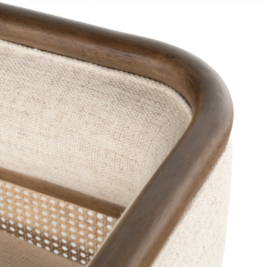 Tremaine Chaise Parawood Corner Detail
