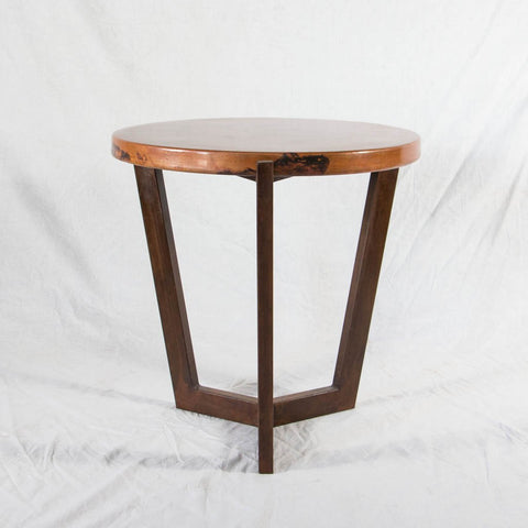 Trico Side Table Copper Top iron Base