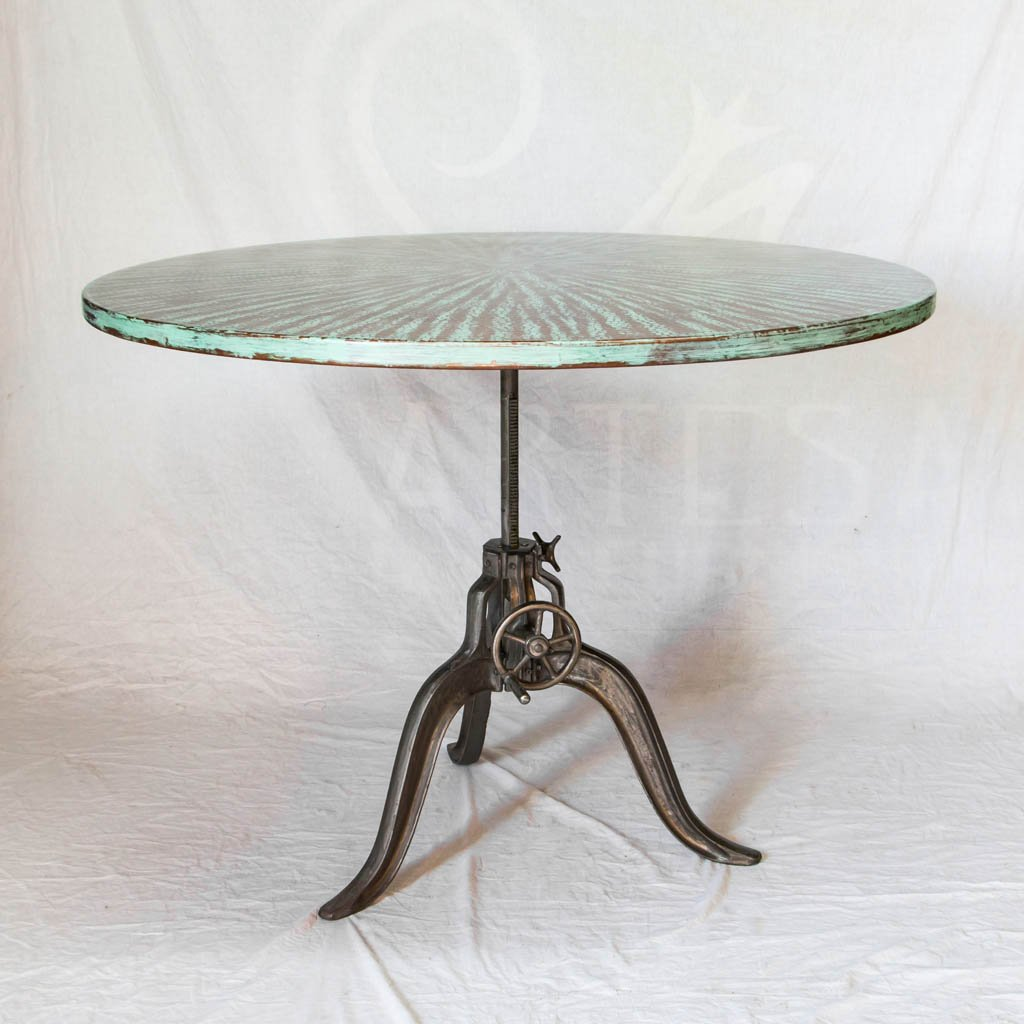 Copper and Iron Dining Table Adjustable