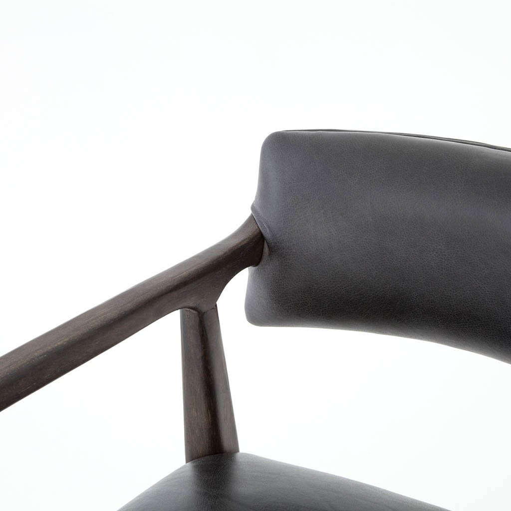 Tyler Barstool and Counter Chair Chaps Ebony