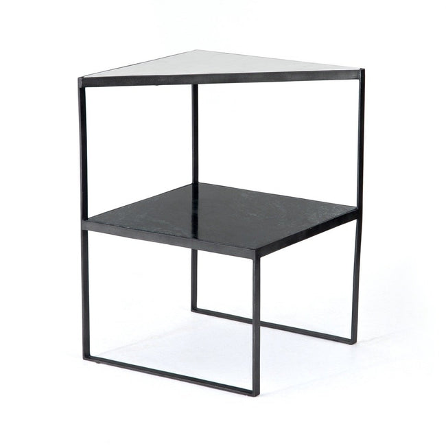 Valerie Nightstand - Hunter Green Marble
