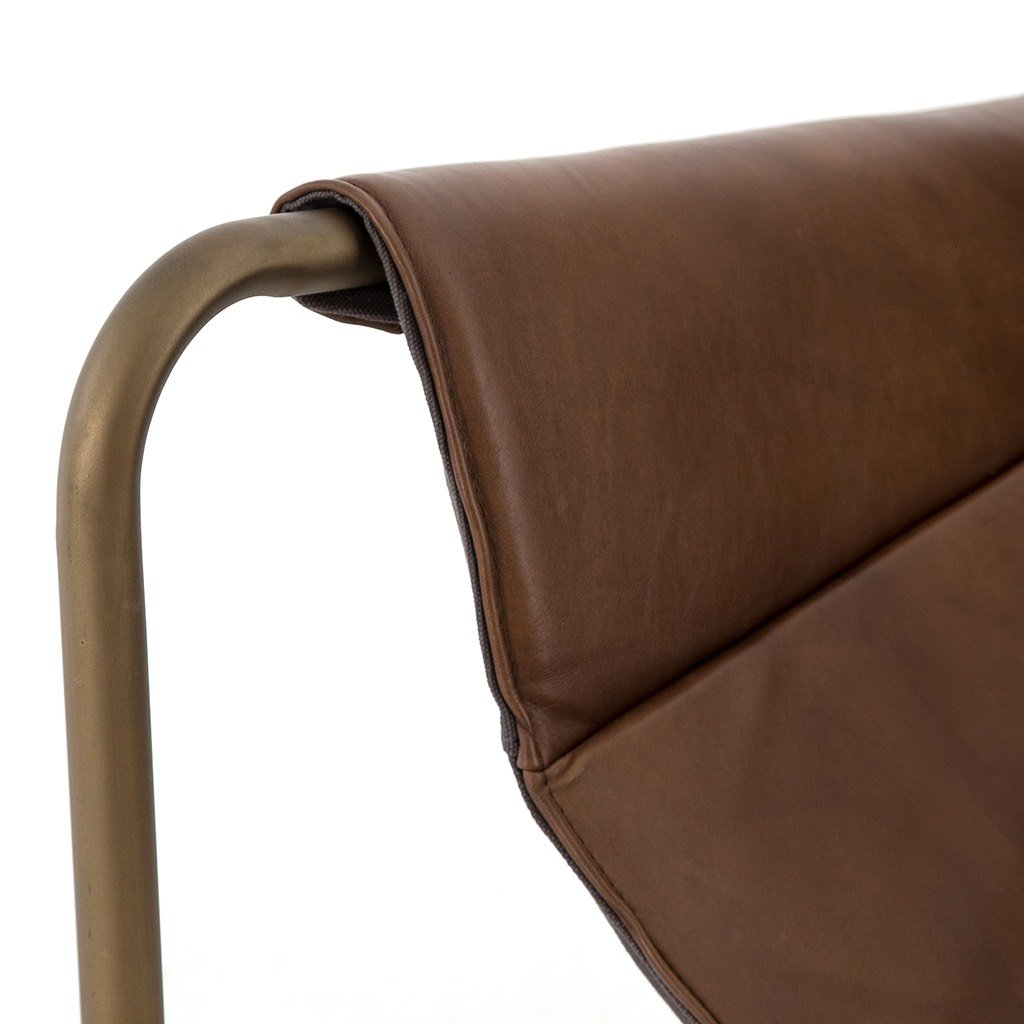 Modern Leather Chair Brown
