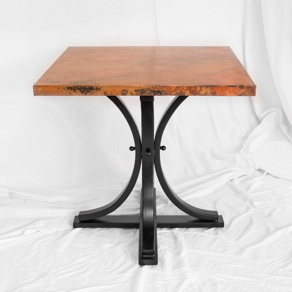 Artesanos Copper Bistro Table Vestal Iron Base