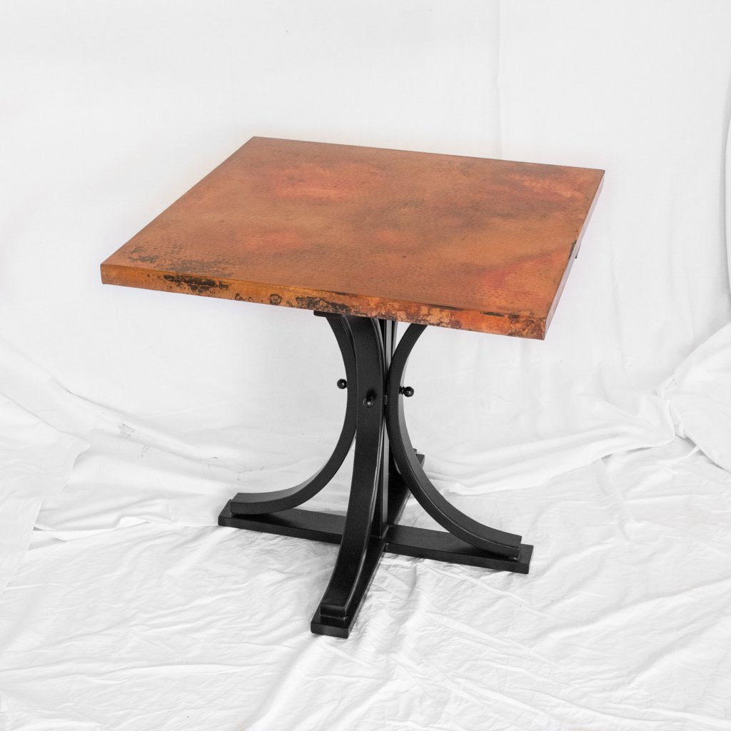 Square Copper Bistro Dining Table