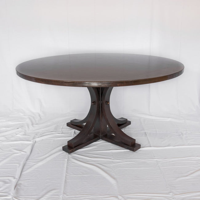Vestal Dark Brown Copper and Iron Dining Table at Artesanos