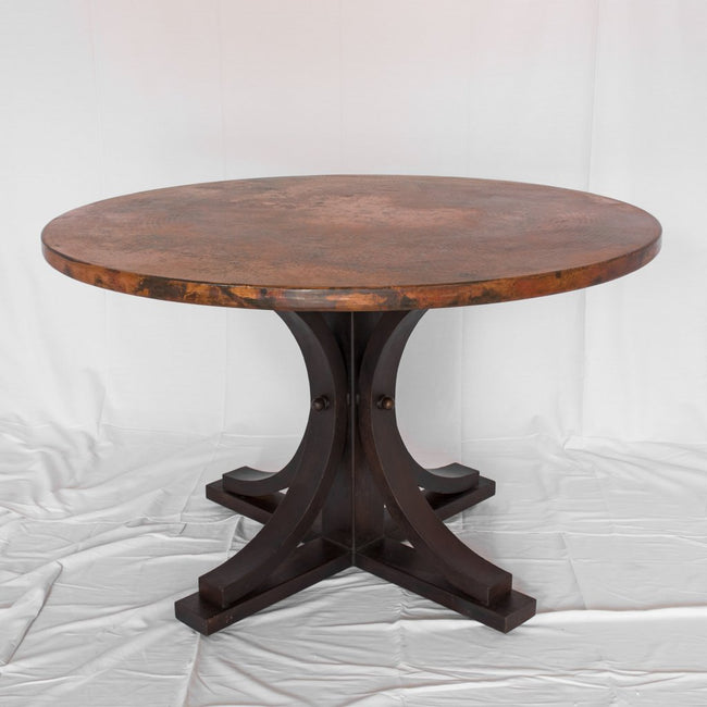 Vestal Copper Tabel with iron dining table base