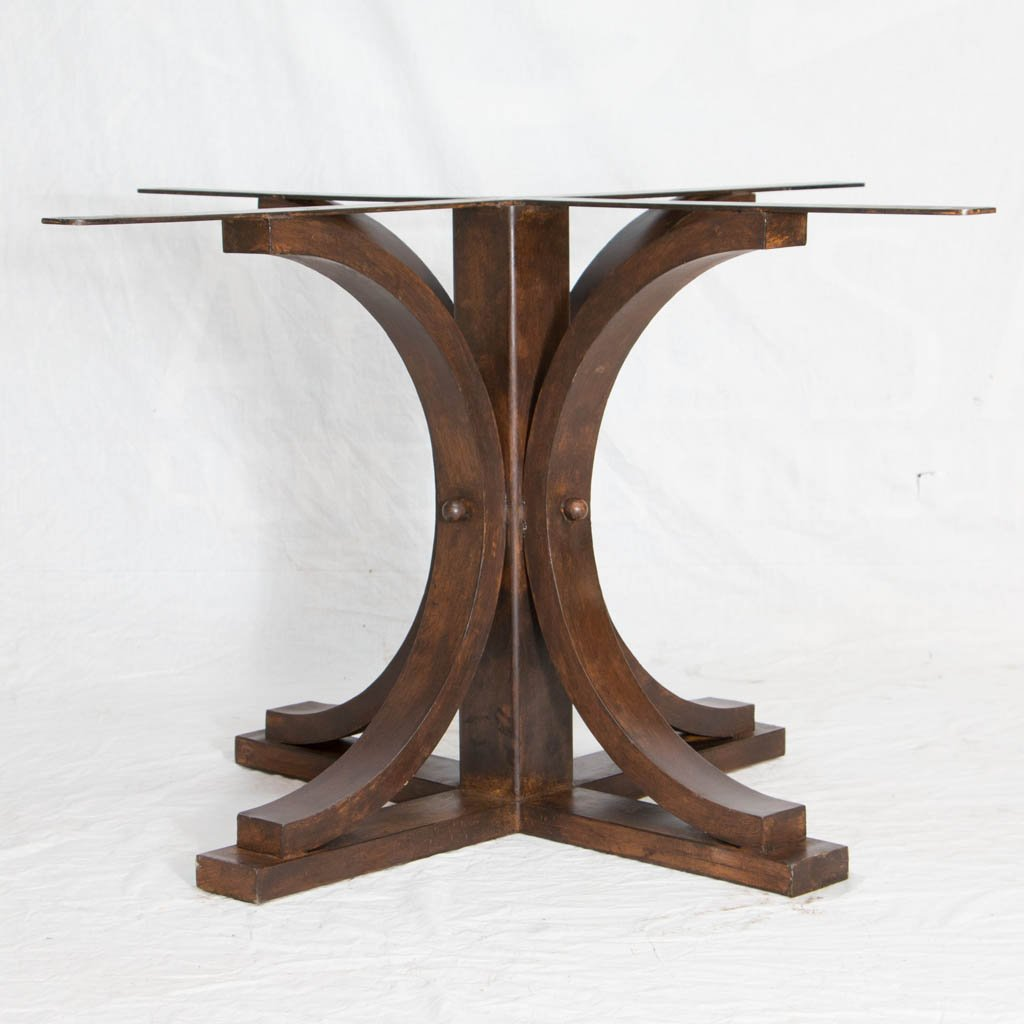 hand crafted iron and copper dining table
