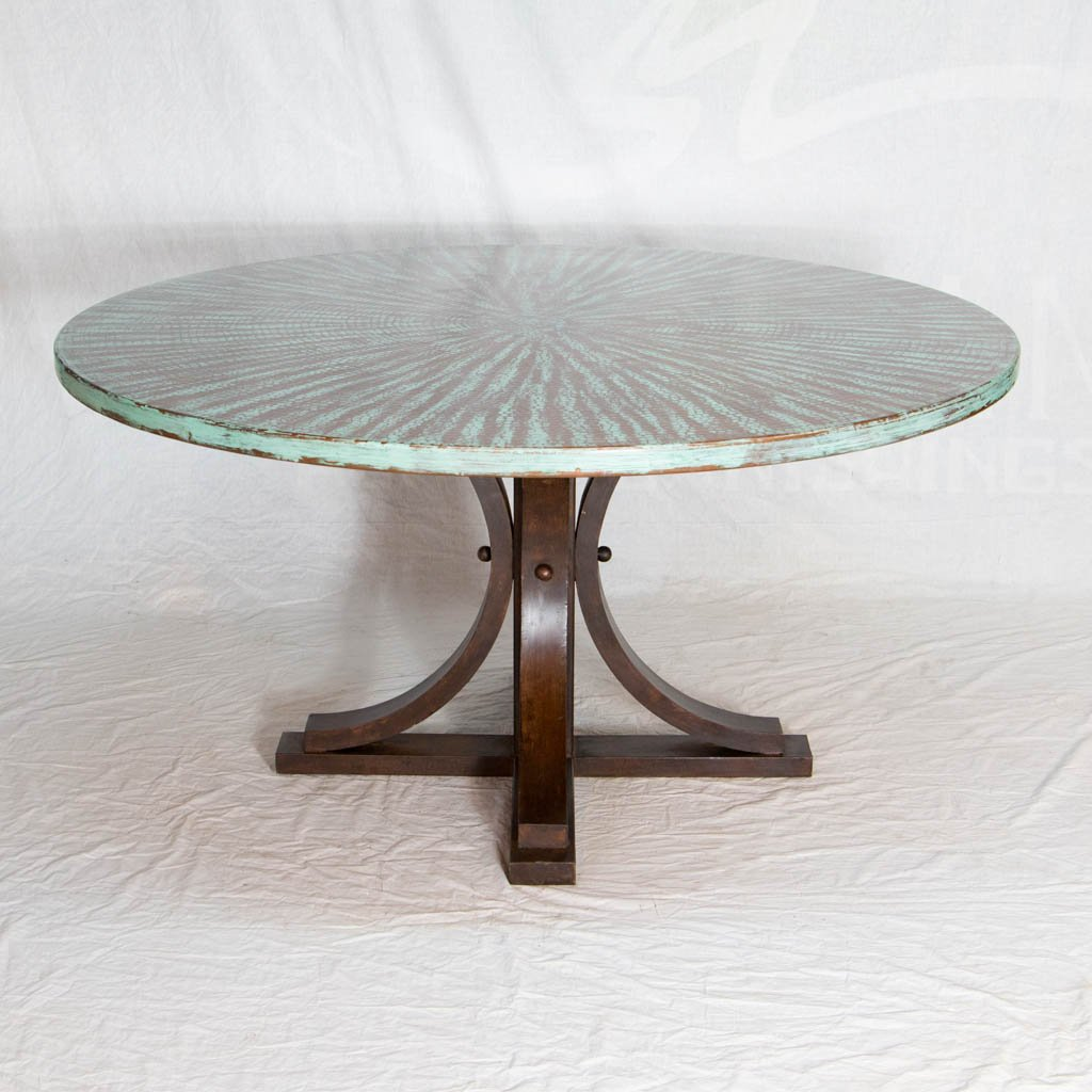 Vestal Copper Top Dining Table - Weathered Penny
