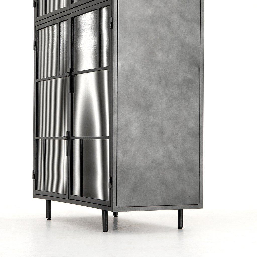 Violet Modern Industrial Cabinet Lower View