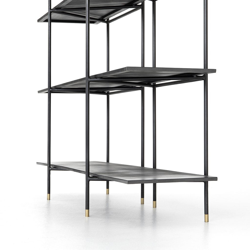 Vito Industrial Bookshelf Shelf View