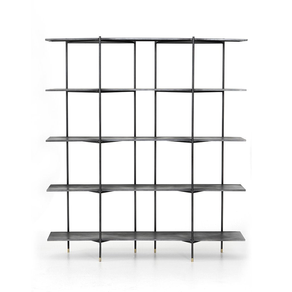Vito Industrial Bookshelf Front View