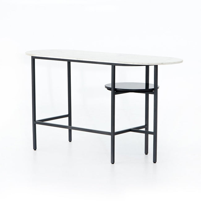 Viv Marble Top Desk - Charcoal