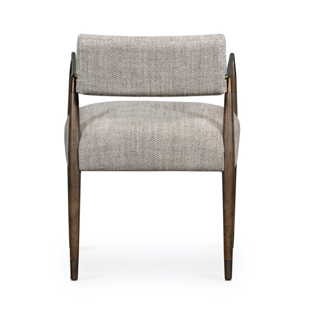 Waldon Dining Chair - Thames Coal Back View