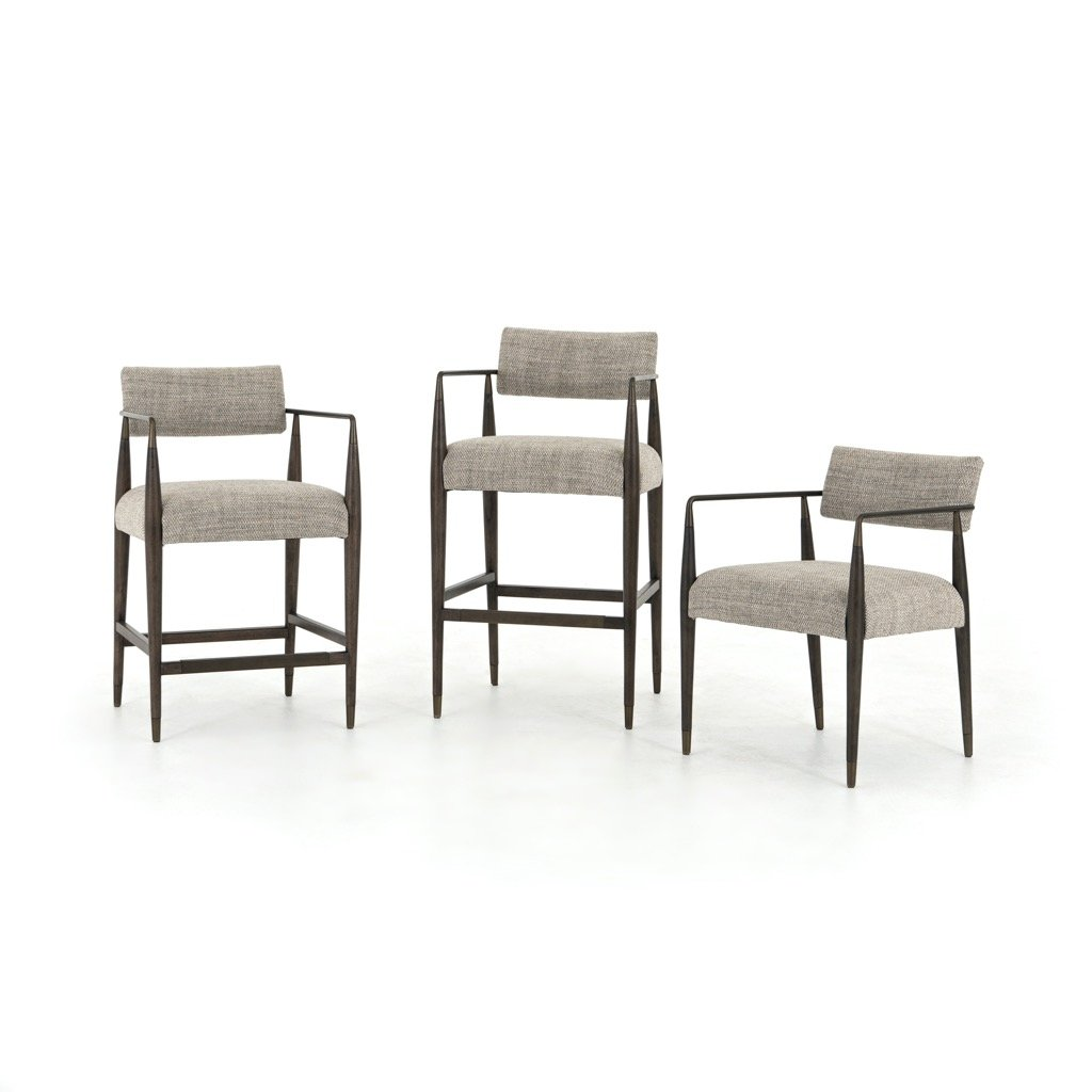Four Hands Waldon Dining Chair - Thames Coal