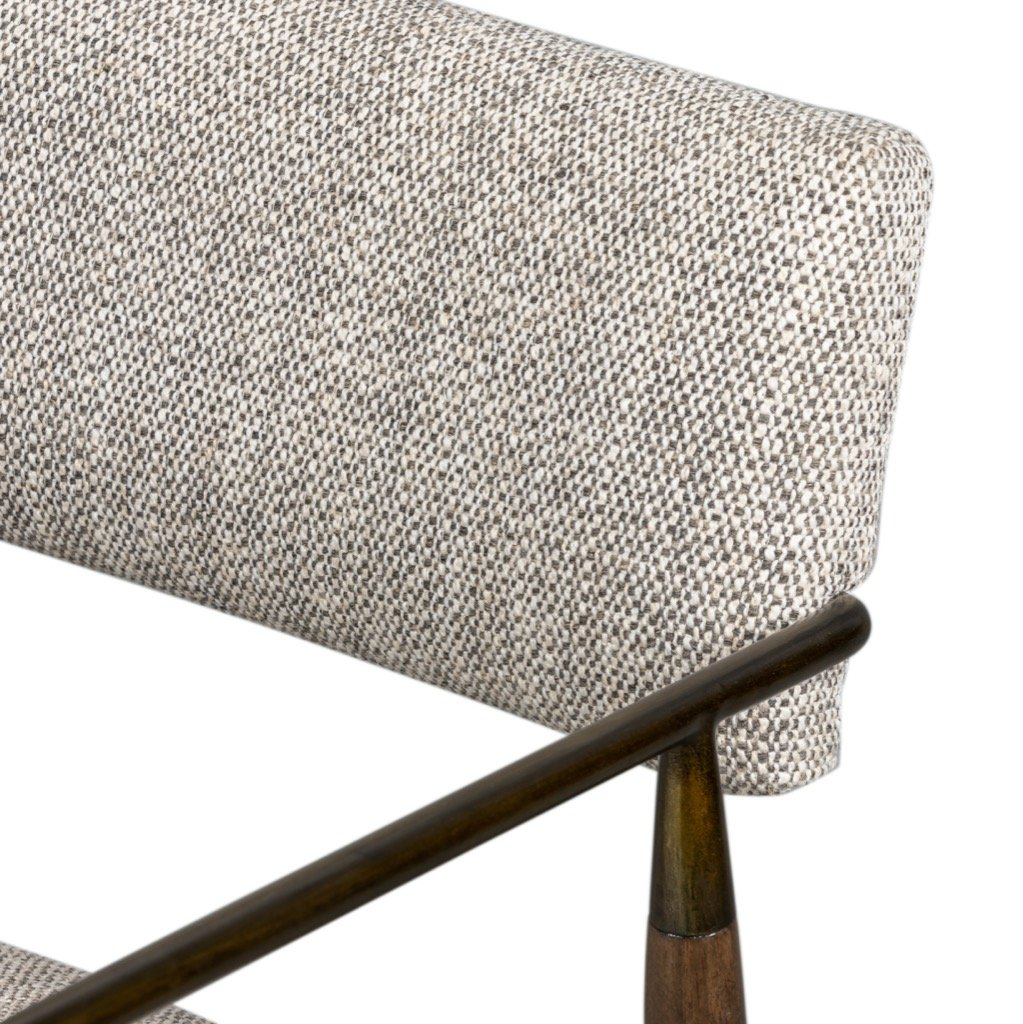 Waldon Dining Chair - Thames Coal Textural Seating Detail