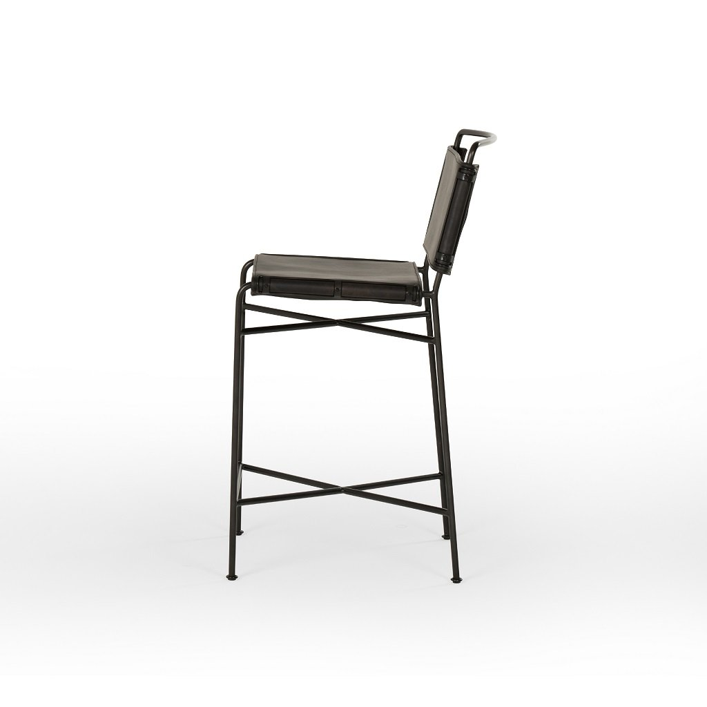 Wharton Bar & Counter Stool Side View