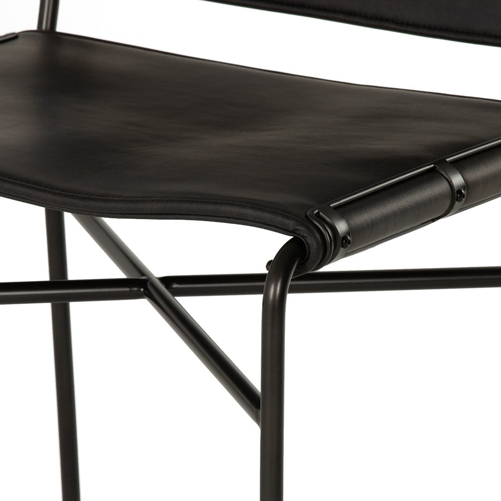 Wharton Bar & Counter Stool Faux Leather Seating Detail