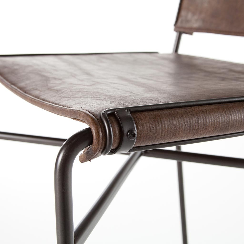 Wharton Bar Chair - Distressed Brown