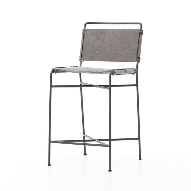 Wharton Counter Chair - Stonewash Grey