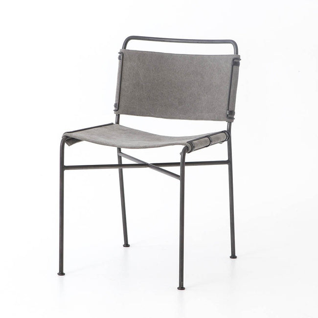 Wharton Modern Dining Chair - Stonewash Grey