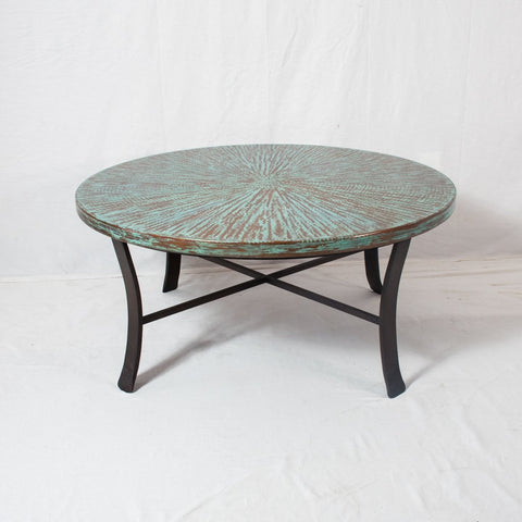 Blas End Table - Tumbled Rust