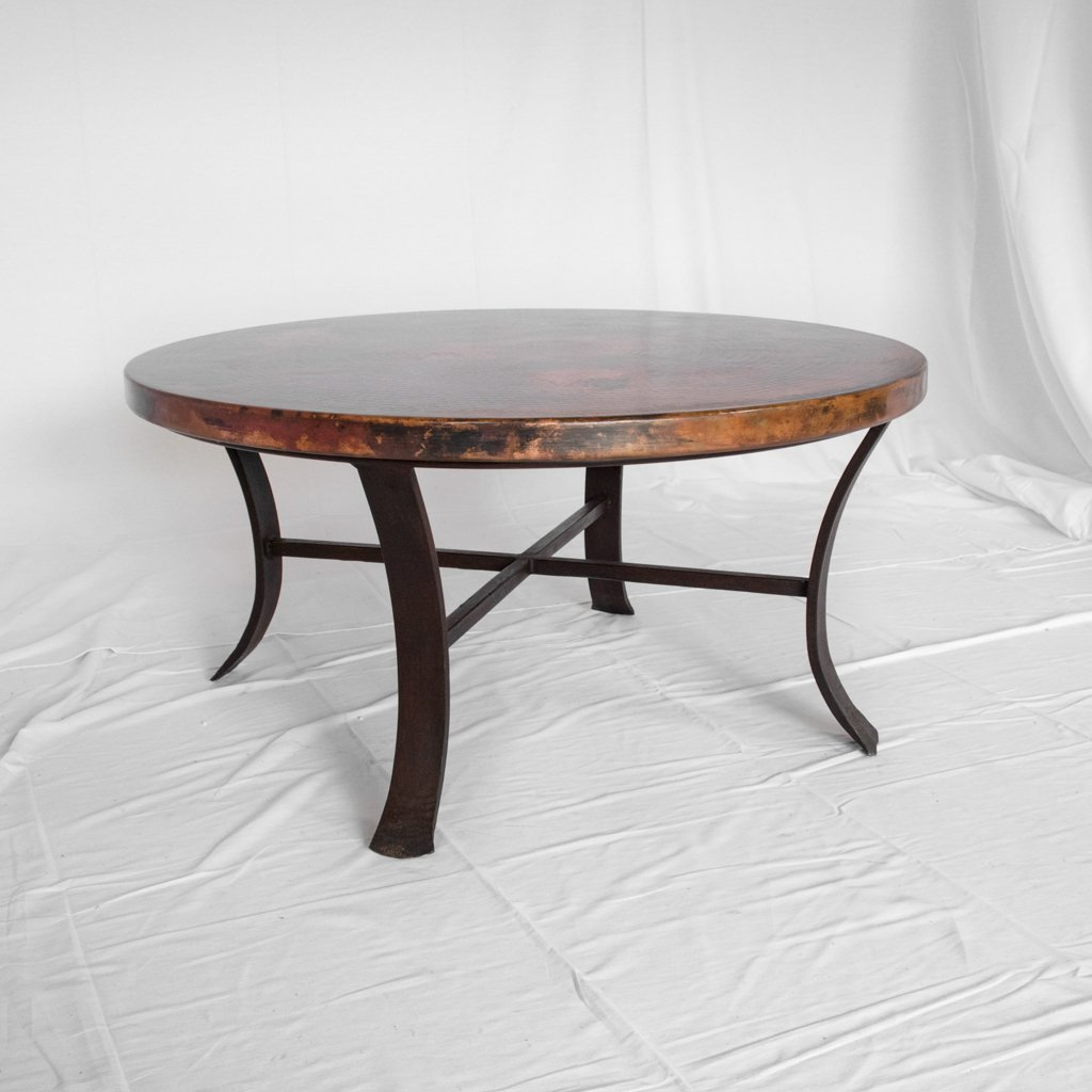Artesanos Round Copper Coffee Table