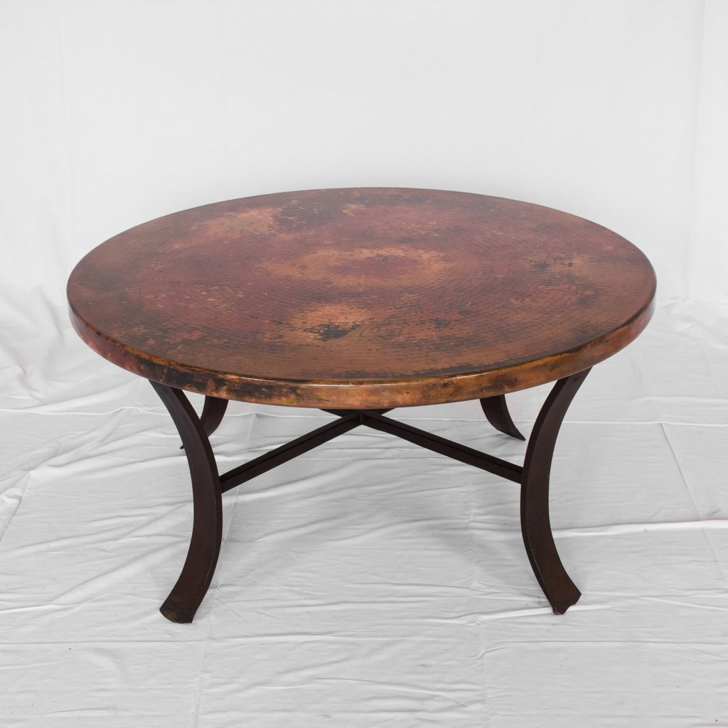 Windom Round Copper Coffee Table