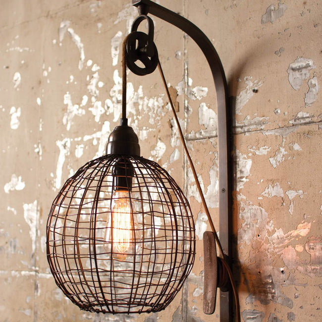 Wire Sphere Wall Sconce Lamp