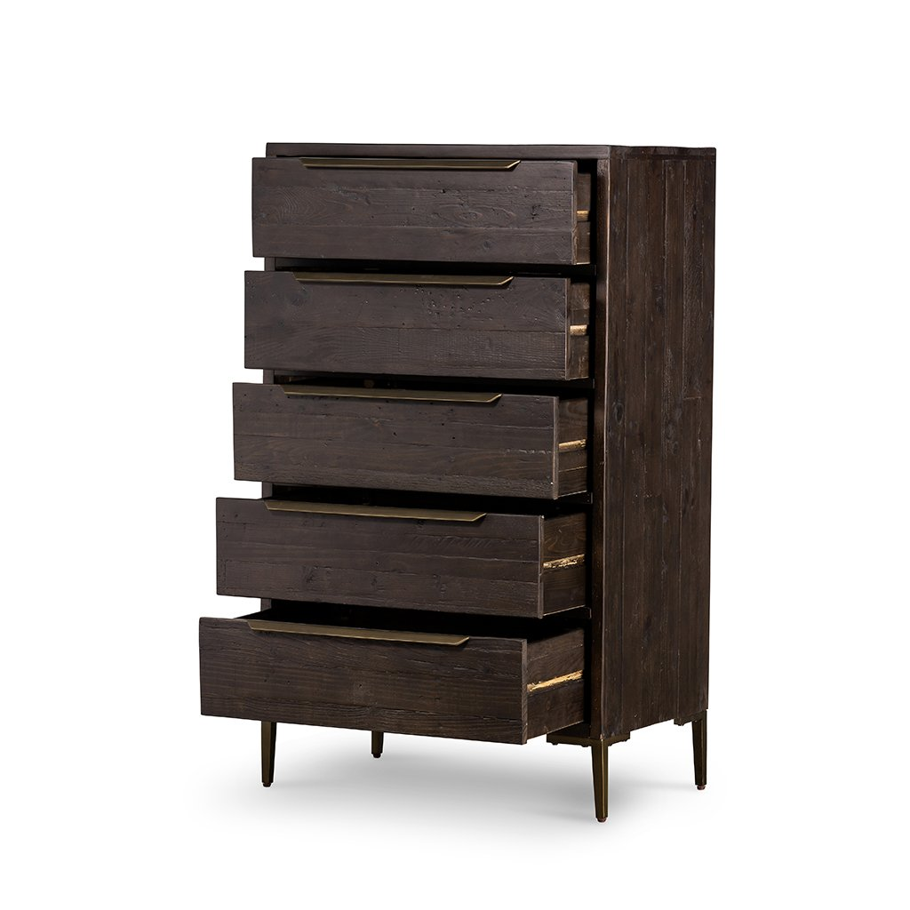 Wyeth 5 Drawer Dresser VWYT-004B Drawers Open