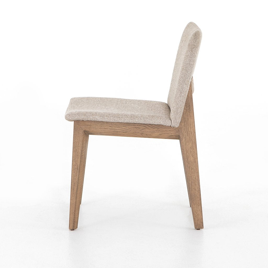 Zane Upholstered Dining Chair - Light Camel Side View