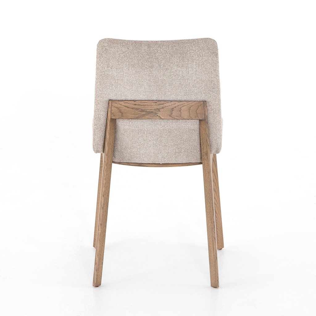 Zane Upholstered Dining Chair - Light Camel Back View