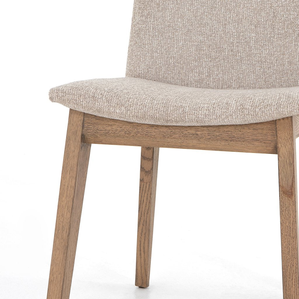 Zane Upholstered Dining Chair - Light Camel Seat View