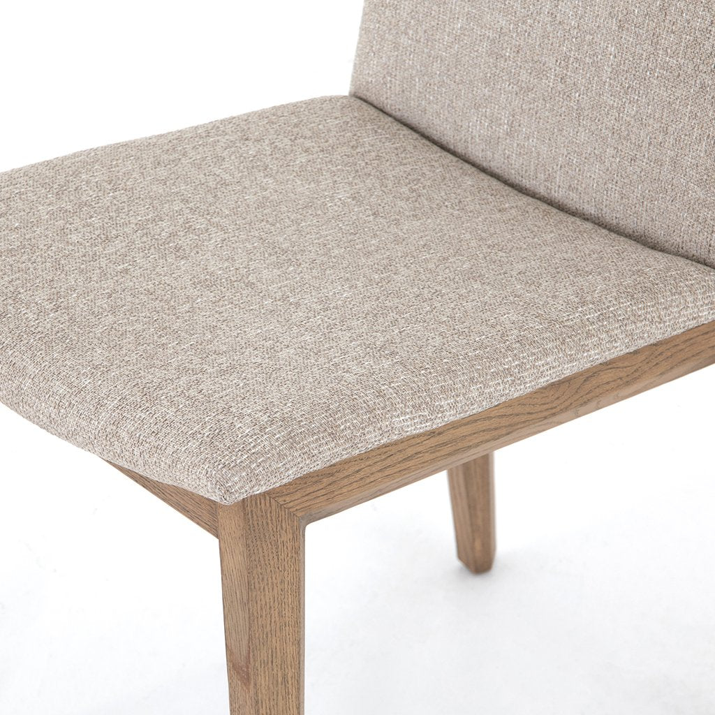 Zane Upholstered Dining Chair - Light Camel Seat Detail