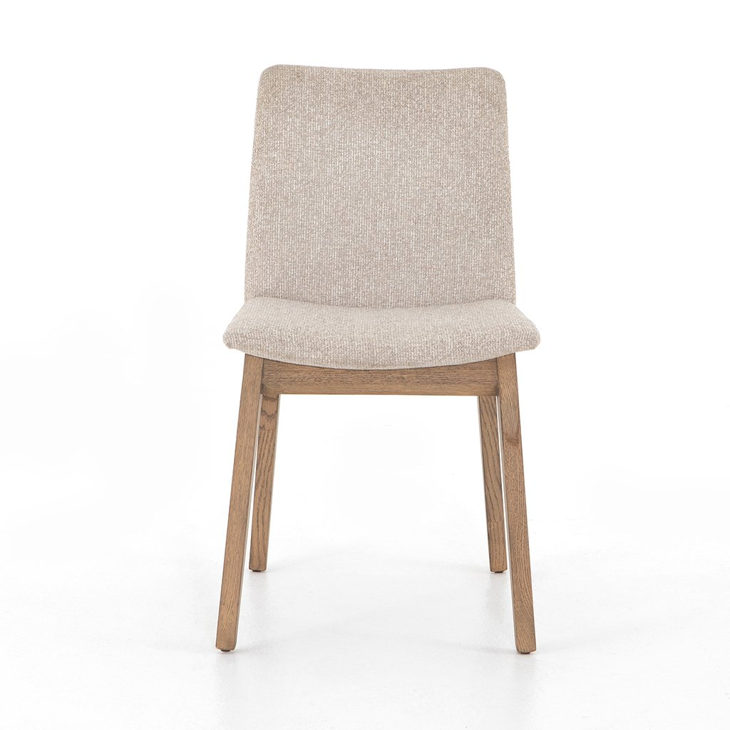 Zane Upholstered Dining Chair - Light Camel Front View