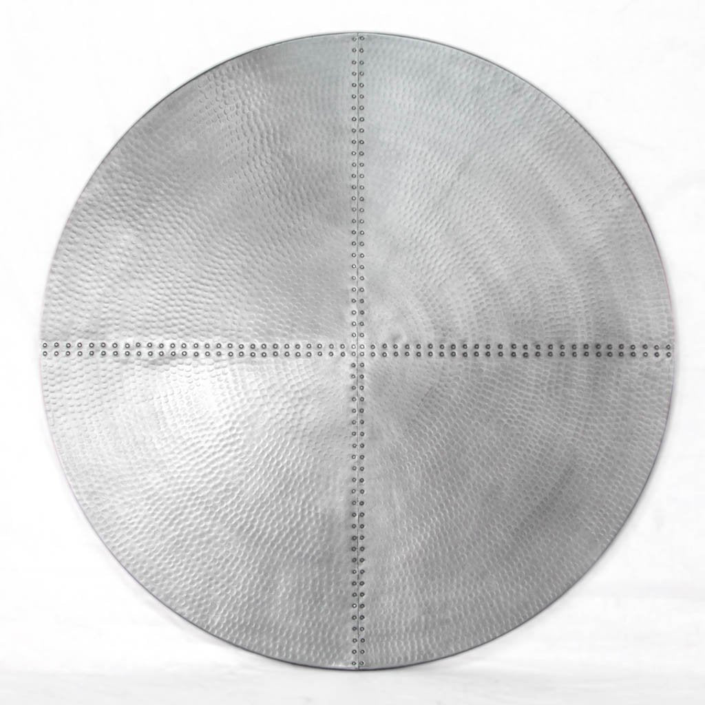 hammered zinc tabletop
