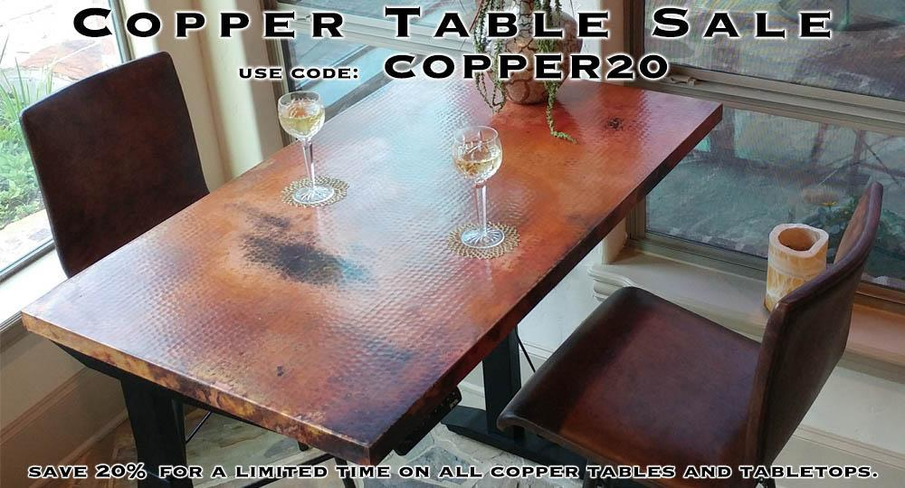 Copper Table Sale