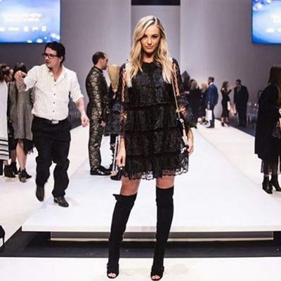 Brooke Hogan wearing the Olga Berg LIA Pod