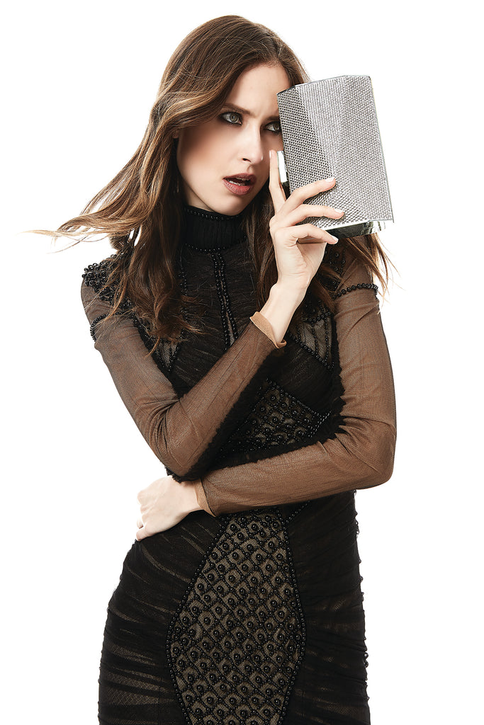 Angular Crystal Clutch