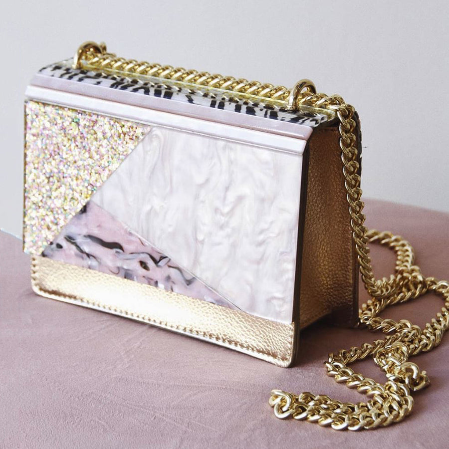 DUSTY Glitter Acrylic Shoulder Bag