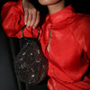 ELLIE Crystal Mesh Ring Handle Bag