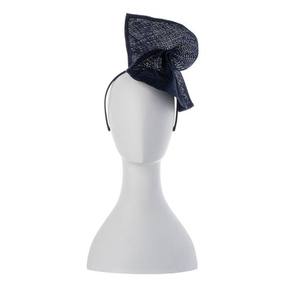 Olga Berg | Elise Parasisal Twist Fascinator | Navy | Millinery | Fascinator