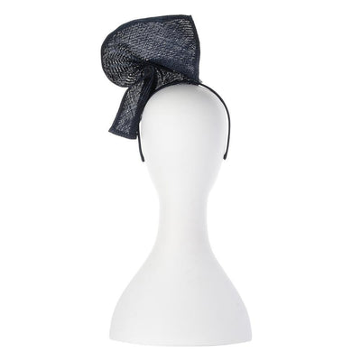 Olga Berg | Elise Parasisal Twist Fascinator | Navy