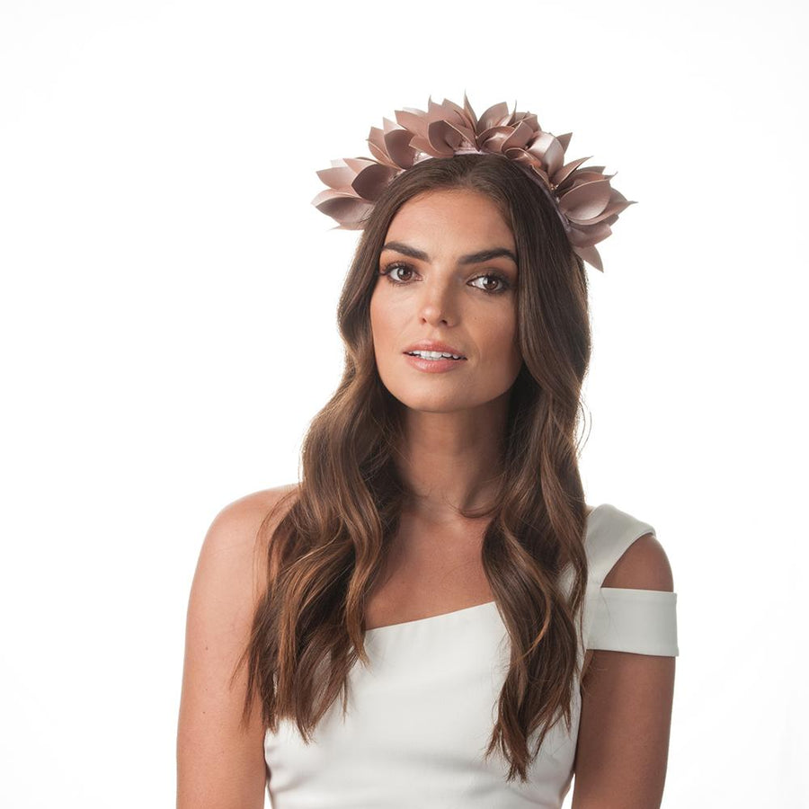 Olga Berg | Jess Floral Headband | Blush | Millinery | Fascinator