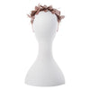 Olga Berg Taylor Floral Headband millinery in Rose Gold colourway showing back view